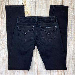 HUDSON Black Straight Leg Flap Pocket Jeans